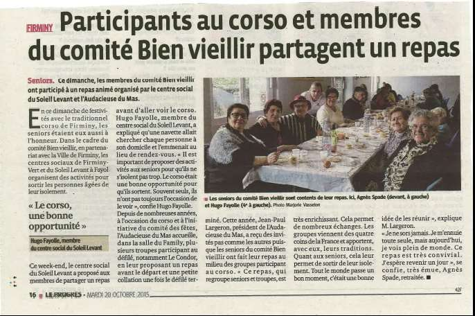 Corso et Comité Bien Vieillir